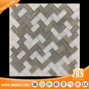 Latin America Herring Bone Strip Stone and Glass Mosaic for Home (M424003) pictures & photos