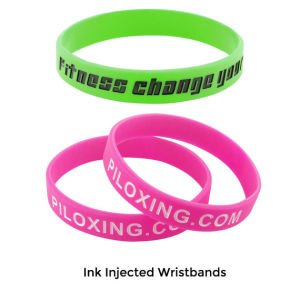 Custom Debossed Ink Injected Silicone Wristbands (YB-w-012) pictures & photos