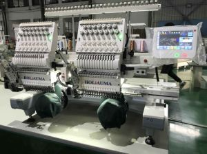 Two Heads 15 Colors Embroidery Machine Prices for Commercial Embroidery Machine pictures & photos