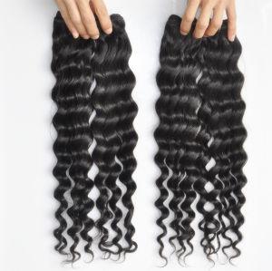 9A Brazilian Deep Wave 100% Virgin Human Hair Extensions pictures & photos