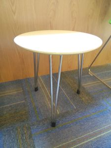 High Quality Modern Design Stainless Steel Dining Room Table and Chair pictures & photos