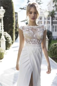 Sexy Beach Country Garden Bridal Gowns Lace Top Beaded Wedding Dress 2018 pictures & photos