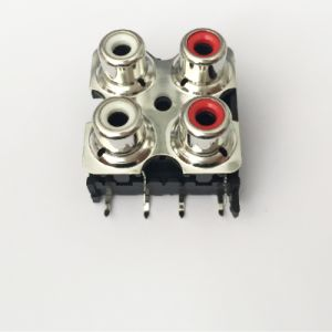 AV Socket with The Core Lotus Single-Hole RCA Socket Audio and Video Terminals AV4-8.4-13 pictures & photos