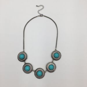 Fashion Alloy with Turquoise Stone Necklace pictures & photos