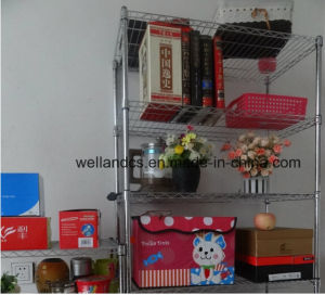 Easy Cleanable Chrome Adjustable Book Display Wire Shelf (CJ9035180A5E) pictures & photos