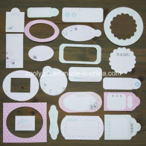 Boy Girl Wedding Flower Paper Craft Pack 21 Die-Cut Tag Mini Card pictures & photos