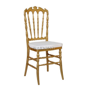 Wedding Furniture Gold Polycarbonate Resin Royal Chair pictures & photos
