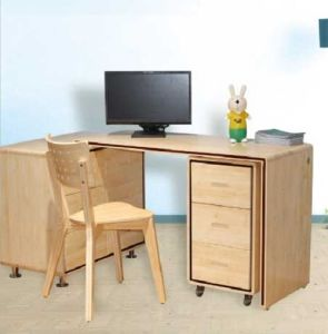 Bamboo Desk and Chair Bamboo Home Office Computer Desk pictures & photos