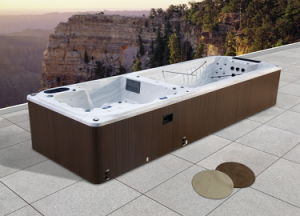 Outdoor Large Rectangular USA Balboa System Lucite Acrylic SPA Swim Pool (M-3373) pictures & photos