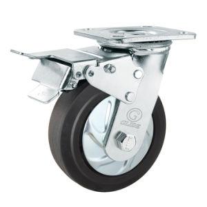 Glide Heavy Duty Nylon Core Elastic Rubber Caster (G4403D) pictures & photos