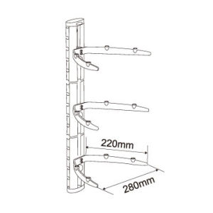 Set-Top Box TV Mount DVD Wall Brackets pictures & photos