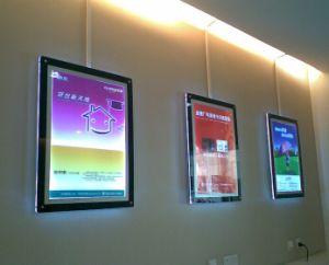 Super Slim Hanging Frameless LED Strip Light Box pictures & photos