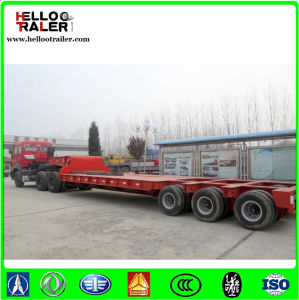 3 Lines 6 Axle 100ton Low Loader Semi Trailer for Sale pictures & photos