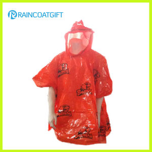 Custom Logo Printed PE Disposable Raincoat Rpe-006A pictures & photos