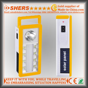 Portable Solar LED Emergency Light with 1W Flashlight, USB (SH-1904A) pictures & photos