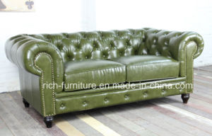 Classic Vintage Leather Chesterfield Sofa for Living Room pictures & photos