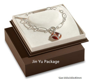 Luxury Handmade Chocolate Square Gift Jewelry Paper Box for Bracelet pictures & photos