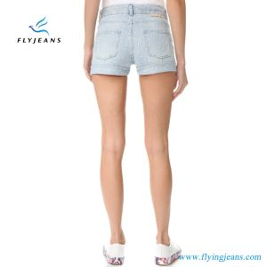 Jeans Factory Direct Sale Newest Women/Girls Cool Denim Shorts with Embroidery Stars pictures & photos