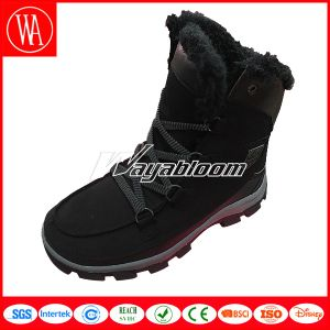Women Men Snow High Upper Fur Boots for Winter