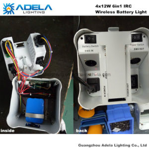 4X12W 6in1 Irc Wireless Battery Light Uplight pictures & photos
