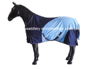 Navy & Light Blue Horse Cotton Rug (SMR3206) pictures & photos
