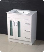 Gloss MDF Bathroom Cabinet with Slick Design pictures & photos