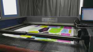 Printed Fabrics Laser Cutting Machine with Edge Tracking CCD System pictures & photos