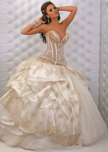 Evening Ball Beaded Bridal Wedding Gowns (WD12008) pictures & photos