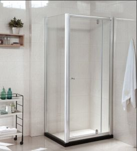 Tempered Glass Bathroom Shower Enclosure with Artificial Stone (P22) pictures & photos