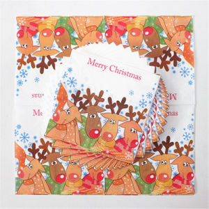 Disposable Party Paper Dinner Napkin with Deer Printed pictures & photos