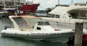 Liya 8.3m Cabin Rib Boat Hypalon Yacht New Inflatable Rubber Boat for Sale pictures & photos