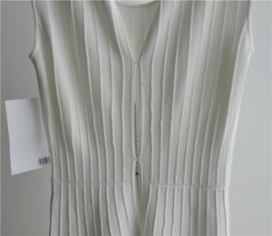 Woman Sleeveless Longline Patterned Sweater Dress pictures & photos