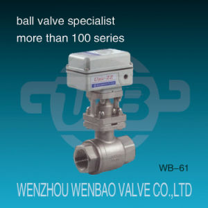 Electric Motorized 2-Piece Female Threaded Stainless Steel Floating Ball Valve pictures & photos