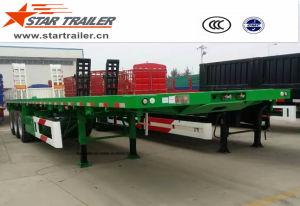 40-60ton Flatbed Container Semi Trailer pictures & photos