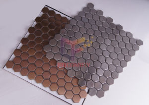 Modern Style Hexagon 316 Stainless Steel Metal Decoration Mosaic (CFM730) pictures & photos