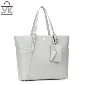 Tote PU Leather Leisure Women Designer Handbag pictures & photos