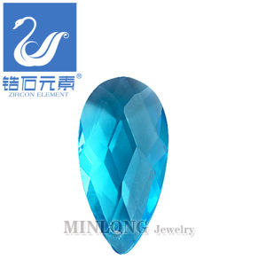Blue Color Pear Cut CZ Gemstone, Zircon Pear Shape Cubic Zirconia Loose Stone (CZ-1137)