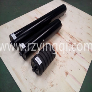 Conveyor Roller with Moulded Cooked or with Impact Rubber Disc Roller Idler Roll Rubber Rings Weigh Idler Roll Roller for Mine and Grain Transportation
