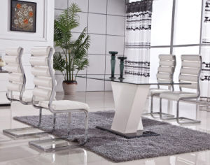 Stainless Steel PU Leather Dining Room Table Chair (ET50 & EC28)