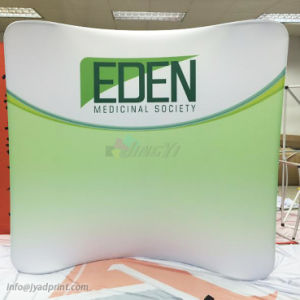 Hot Sale Trade Show Backdrop Wall Fabric Pop Up Display With Posters Printing Service