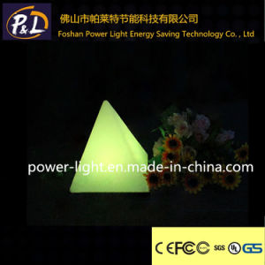 Rechargeable Illuminated Plastic Decoration LED Pyramid Lamp pictures & photos