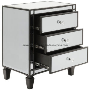 Top Quality Mirrored Furniture for Restaurant Black Mirrored Nightstand/Design Ideas pictures & photos