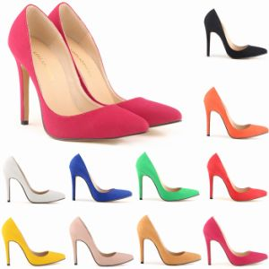 Bright Colour Suede Wedding Women Shoe