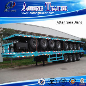 Hot Sale 3 Axles 40ft Flatbed Trailer/High Bed Trailer/Container Trailer pictures & photos
