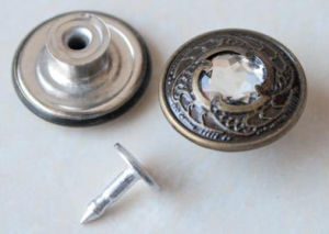 Silver Moving Jeans Buttons B298 pictures & photos