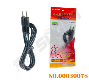 Suoer 3.5mm Stereo AV Signal Line Audio/Video Cable (AV-412A-1.5m-white-red Packing) pictures & photos