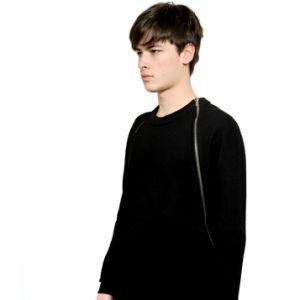 Black Fashion Chest Zipper Sweatshirts Cotton Long Sleeve pictures & photos