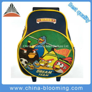 Anger Bird Kids Rolling Backpack Wheeled Trolley School Bag pictures & photos