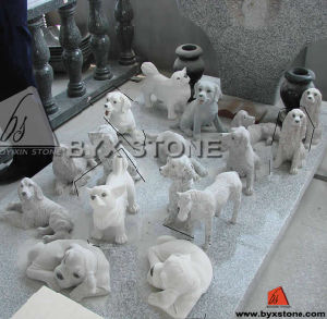 Lovely Stone Granite Animal Dog Carving Statue for Outdoor Garden pictures & photos