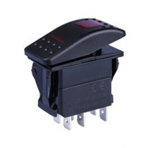 7 Pin Dpdt Marine Boat Waterproof Rocker Switch on-off-on with Two Light pictures & photos